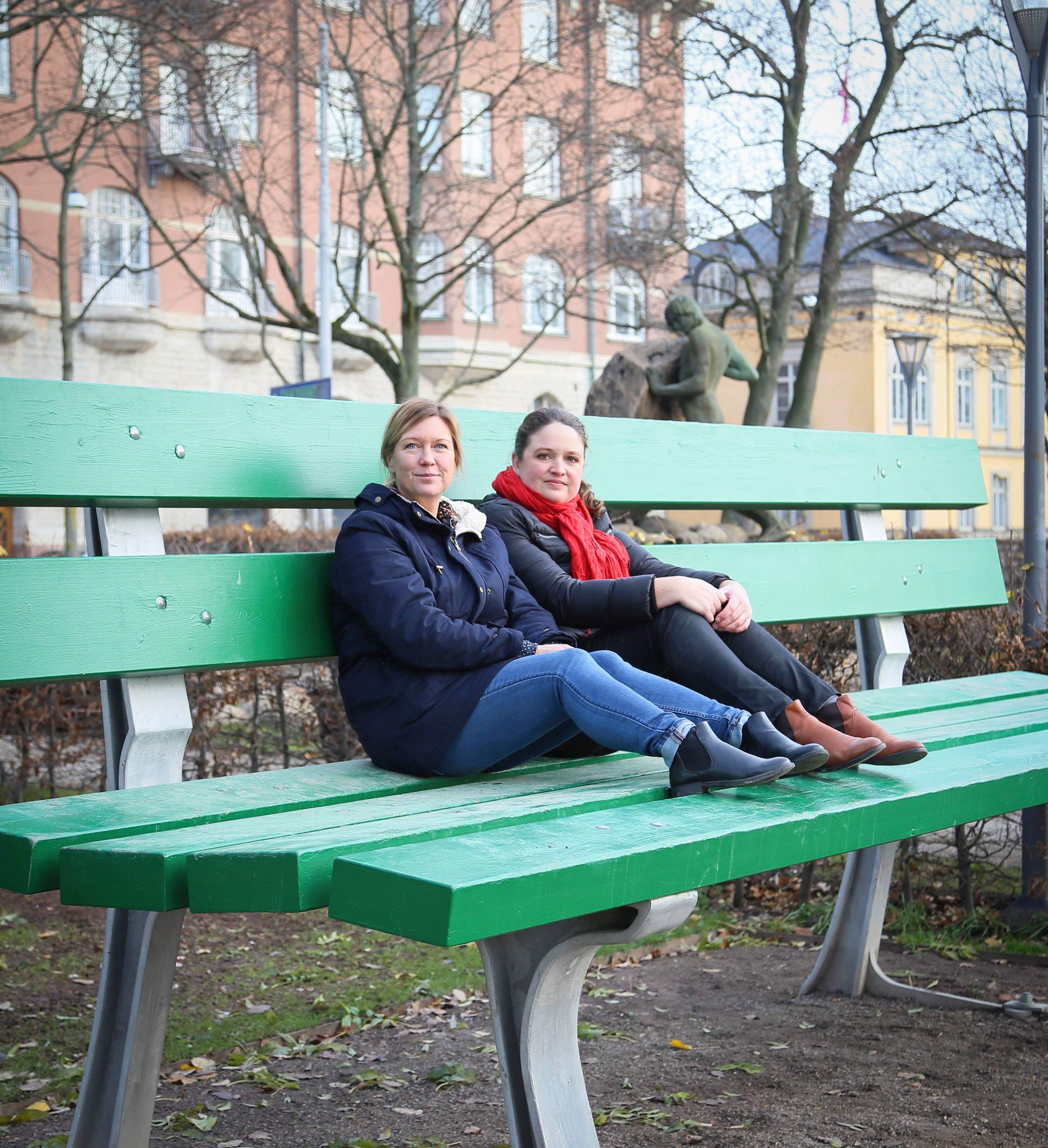 Linda Mickelsson och Hanna Landahl